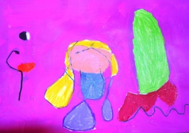 Composition d'après Mirò par Alyssa, 9 ans
