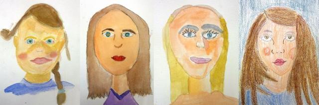 Autoportraits, Manuela, Alyssa, Axelle et Emma