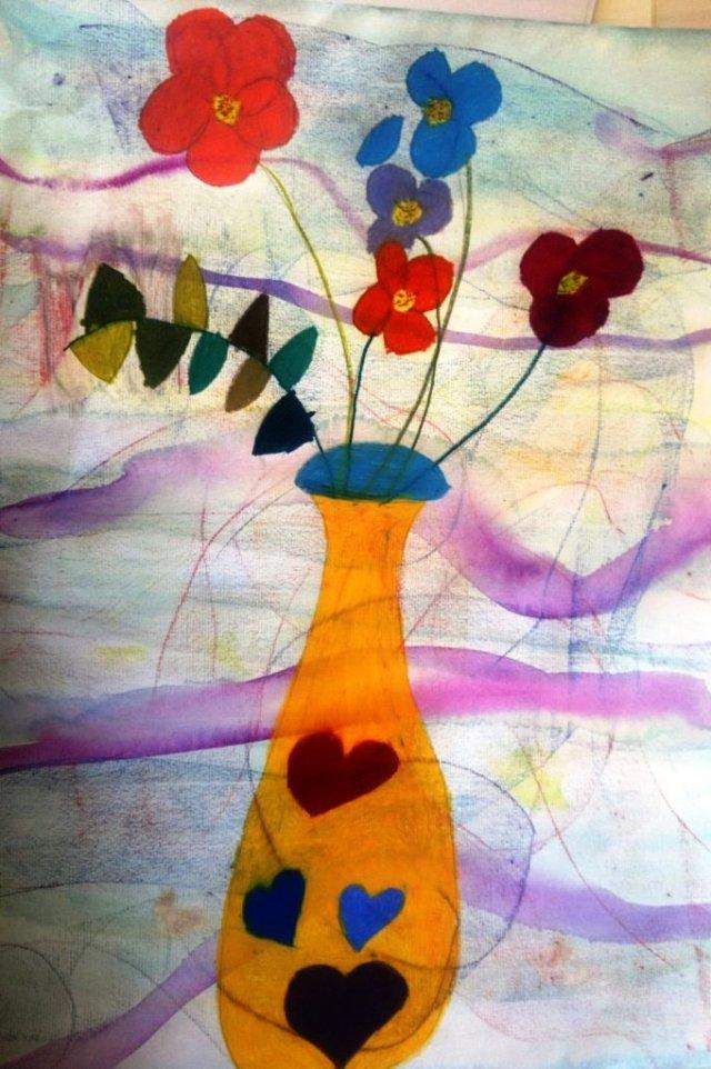 Bouquet de fleurs, par Axelle