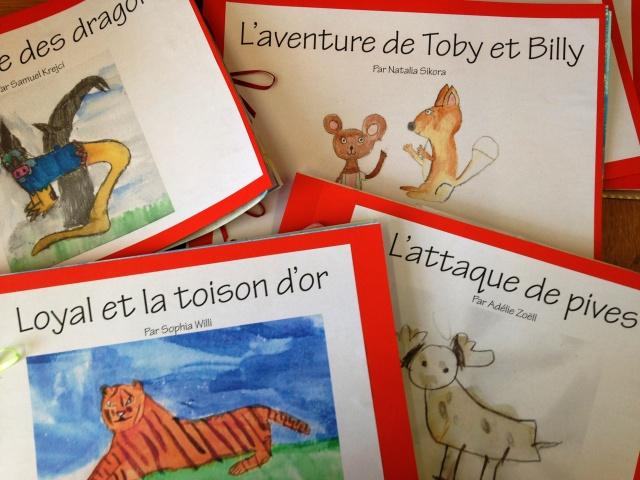 Les livres réalisés par les enfants