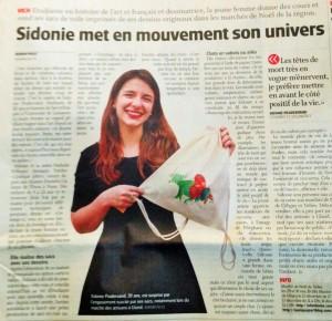 Sidonie dans le Journal La Côte, 27.11.14