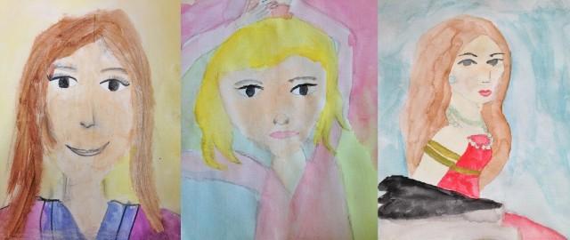 Portraits à la Laurencin