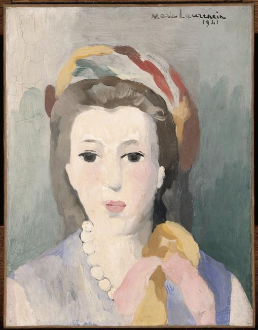 Marie Laurencin, Femme au turban (1941) Photo (C) Centre Pompidou, MNAM-CCI, Dist. RMN-Grand Palais / Jean-François Tomasian