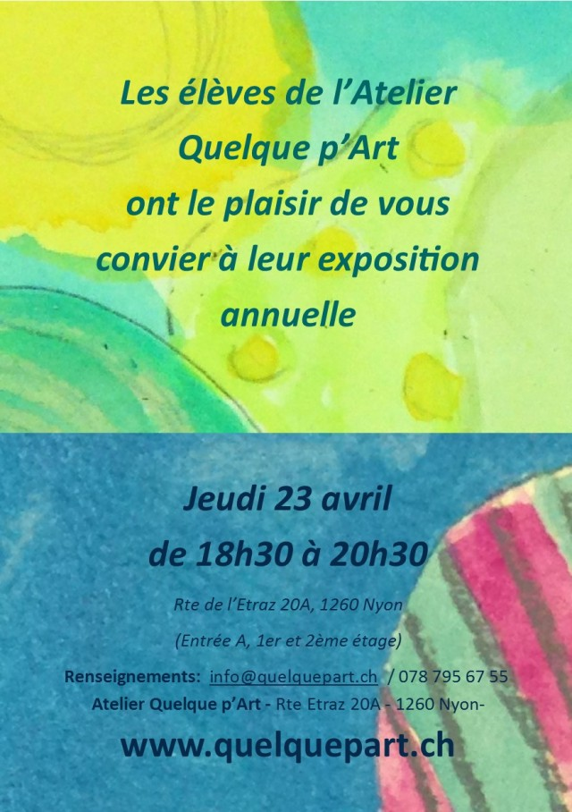 Exposition des élèves, atelier Quelquep'Art