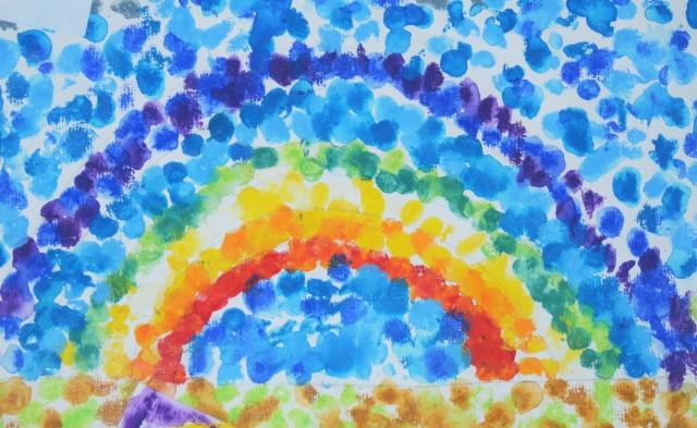 Arc-en-ciel pointilliste, Neocolor II