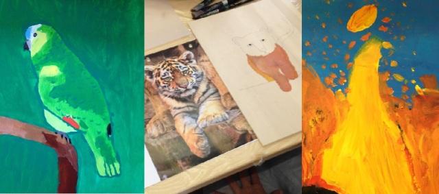 Atelier tableaux à l'acrylique