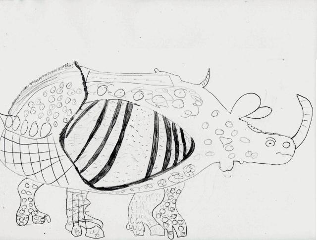 Rhinocéros par Stella